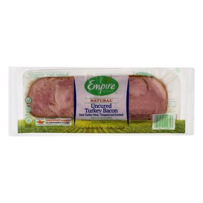 Empire Kosher Turkey Bacon, Uncured, Natural