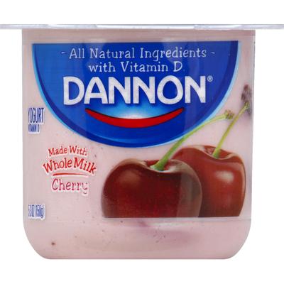 Dannon Whole Milk Yogurt Cherry