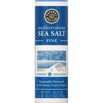 Natural Nectar Sea Salt, Mediterranean, Fine