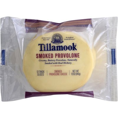 Tillamook Cheese, Provolone, Smoked, Farmstyle Thick Cut