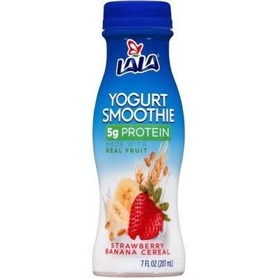 LALA Strawberry Banana Cereal Yogurt Smoothie