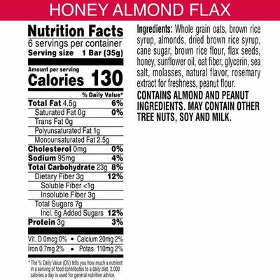 Kashi Chewy Granola Bars, Fiber Bars, Honey Almond Flax