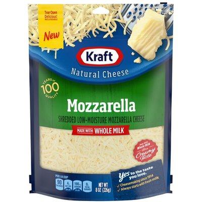 Kraft Mozzarella Shredded Cheese with Whole Milk