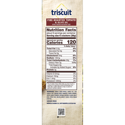 Triscuit Fire Roasted Tomato & Olive Oil Flavor Crackers