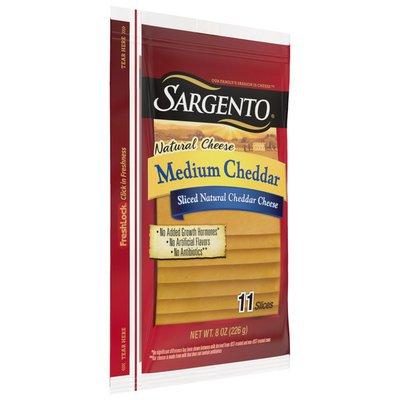 Sargento Sliced Medium Natural Cheddar Cheese