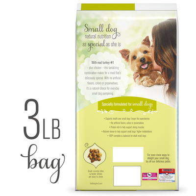 Purina Natural Small Breed Dry Dog Food, Natural Bites With Real Turkey & Chicken