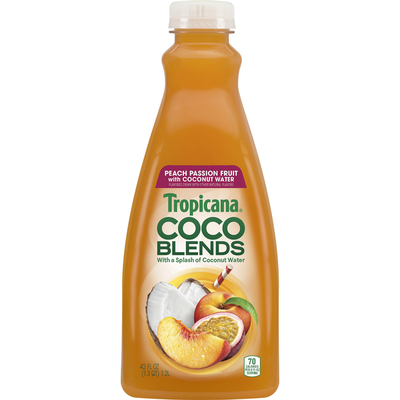 Tropicana Coco Blends, Peach Passion Fruit with Coconut Water