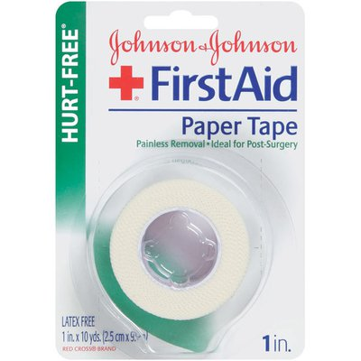 """Red Cross® Johnson & Johnson Paper, Non-Irritating Blister Card 1"""" X 10 Yds. First Aid Tapes Non-Dispenser"""