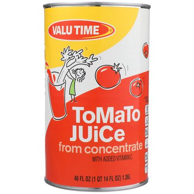 Valu Time Tomato Juice From Concentrate