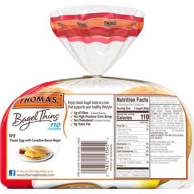 Thomas' Plain Bagel Thins