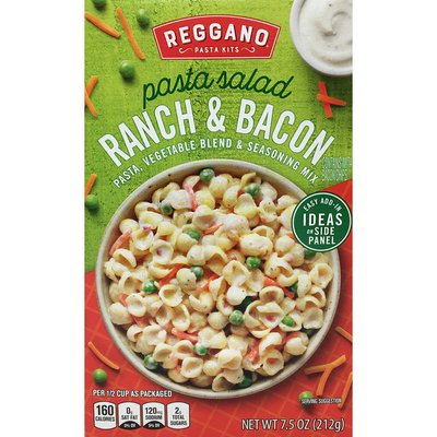 Reggano Pasta Kits pasta salad RANCH & BACON PASTA, VEGETABLE BLEND & SEASONING MIX