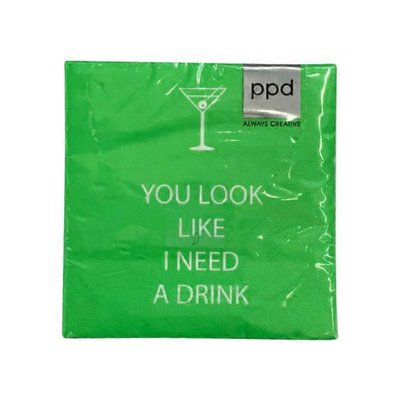 Paperproducts Design You Look Like I Need A Drink Cocktail & Bar Beverage Napkin
