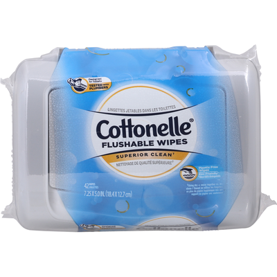 Cottonelle Flushable Wet Wipes Tub
