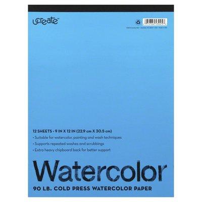 U Create Watercolor Paper, 90 lb Cold Press