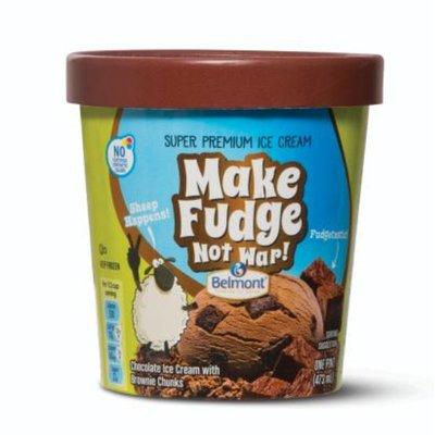 Belmont Make Fudge Not War Premium Ice Cream