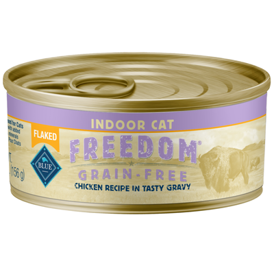 Blue Buffalo Freedom Grain Free Natural Adult Flaked Wet Cat Food, Indoor Chicken