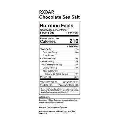 RXBAR Chocolate Sea Salt Protein Bars
