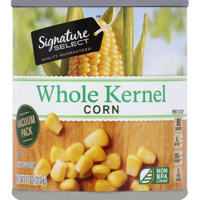 Signature Select Corn, Whole Kernel, Vacuum Pack