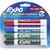 Expo Markers, Dry Erase, Low Odor Ink, Assorted Colors, Chisel Tip