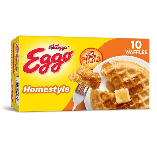 image of Kellogg's Eggo Frozen Waffles Homestyle