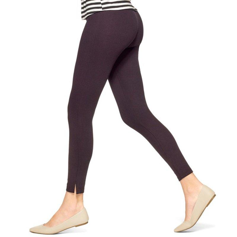 No Nonsense Women's Black Medium Soft Twill Ankle Skimmer