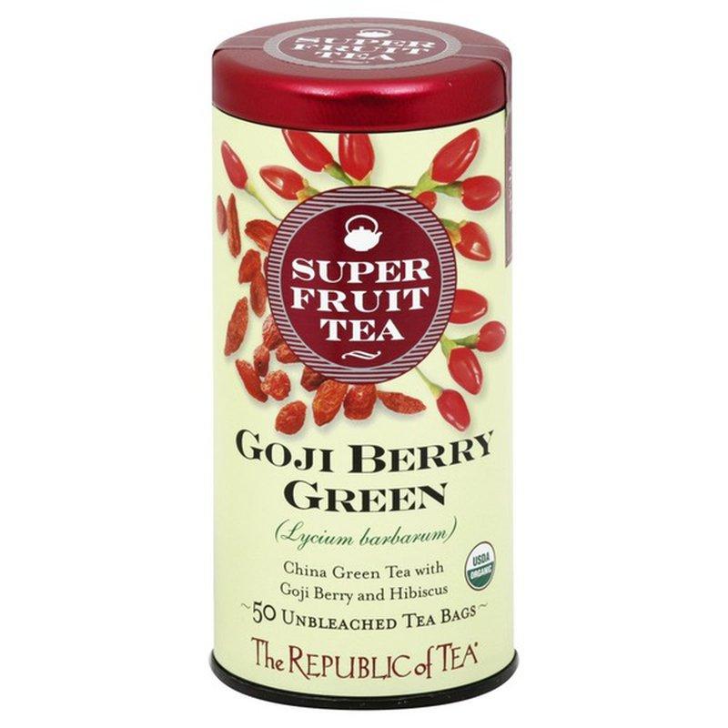 The Republic Of Tea Green Tea Goji Berry Green Bags 2 65 Each