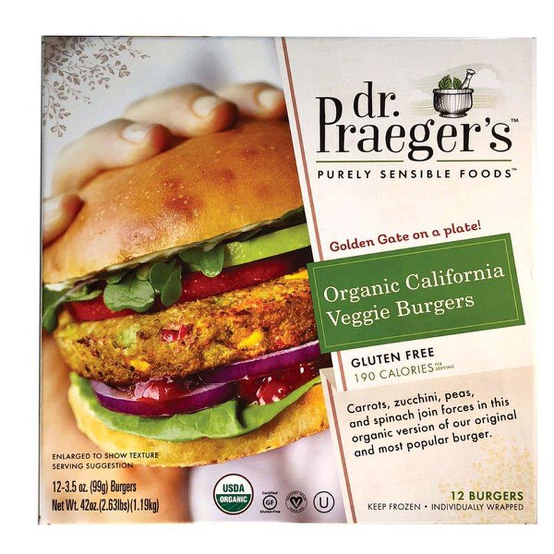 Dr. Praeger's Organic California Veggie Burgers, 12 x 3.5 oz
