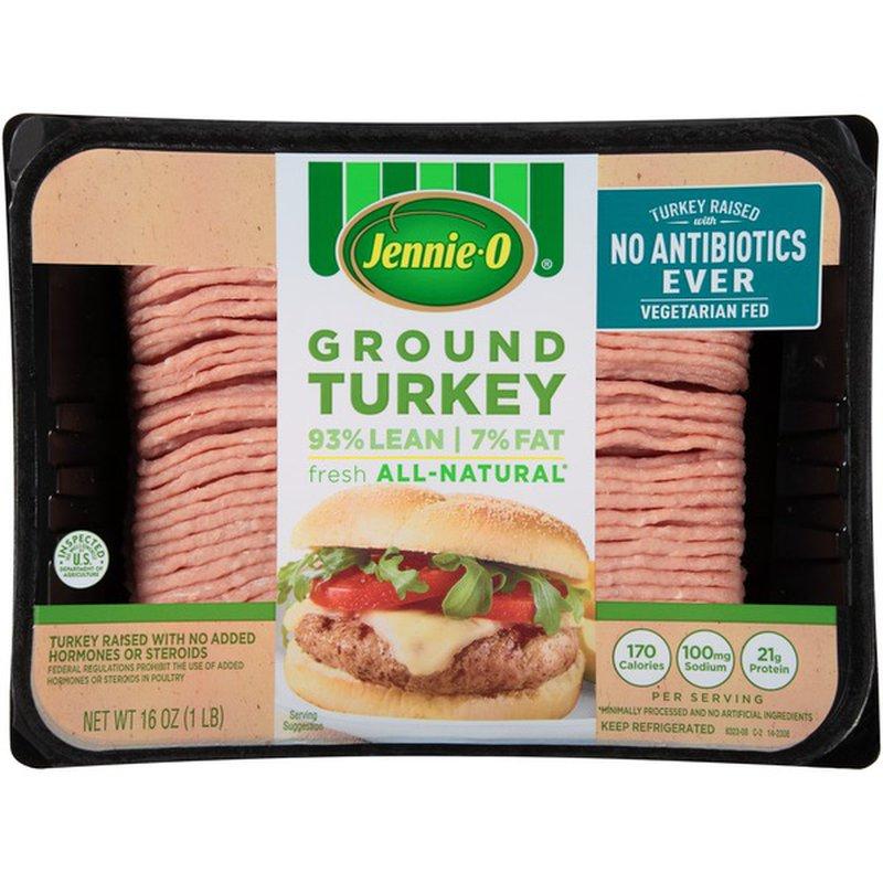 Jennie O 93 Lean 7 Fat Fresh All Natural Ground Turkey 16 Oz Instacart