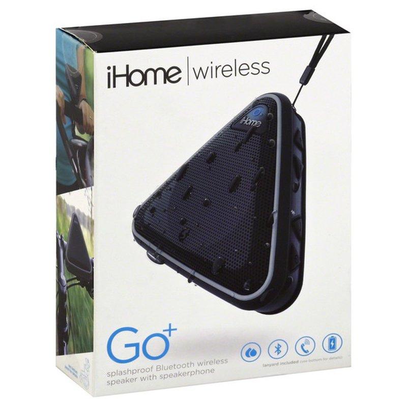 iHome Black & Gray Wireless Waterproof Portable Bluetooth Speaker