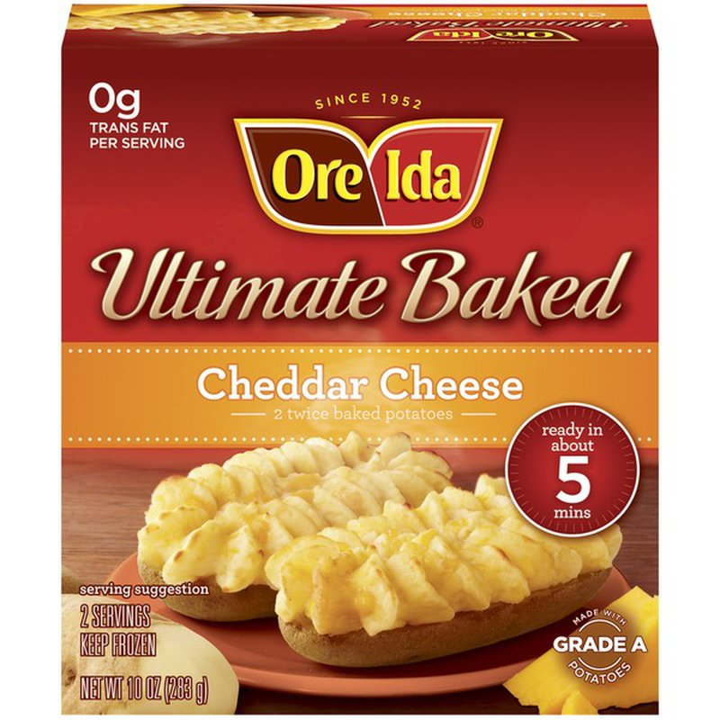 Ore Ida Ultimate Baked Cheddar Cheese Twice Baked Potatoes 10 Oz Instacart