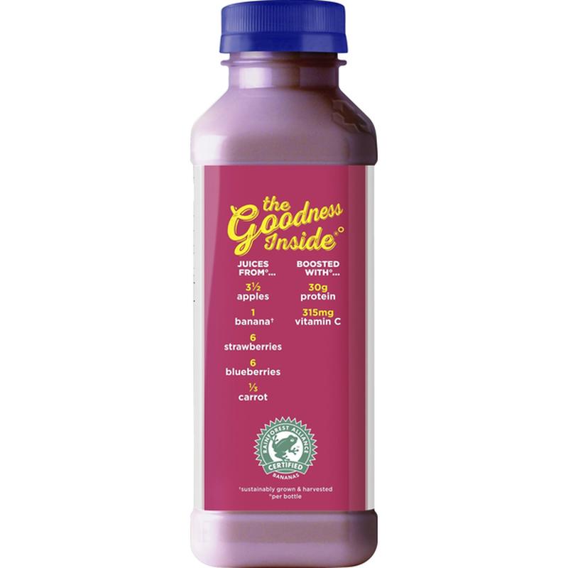 Naked Double Berry Protein Juice Smoothie (15.2 fl oz