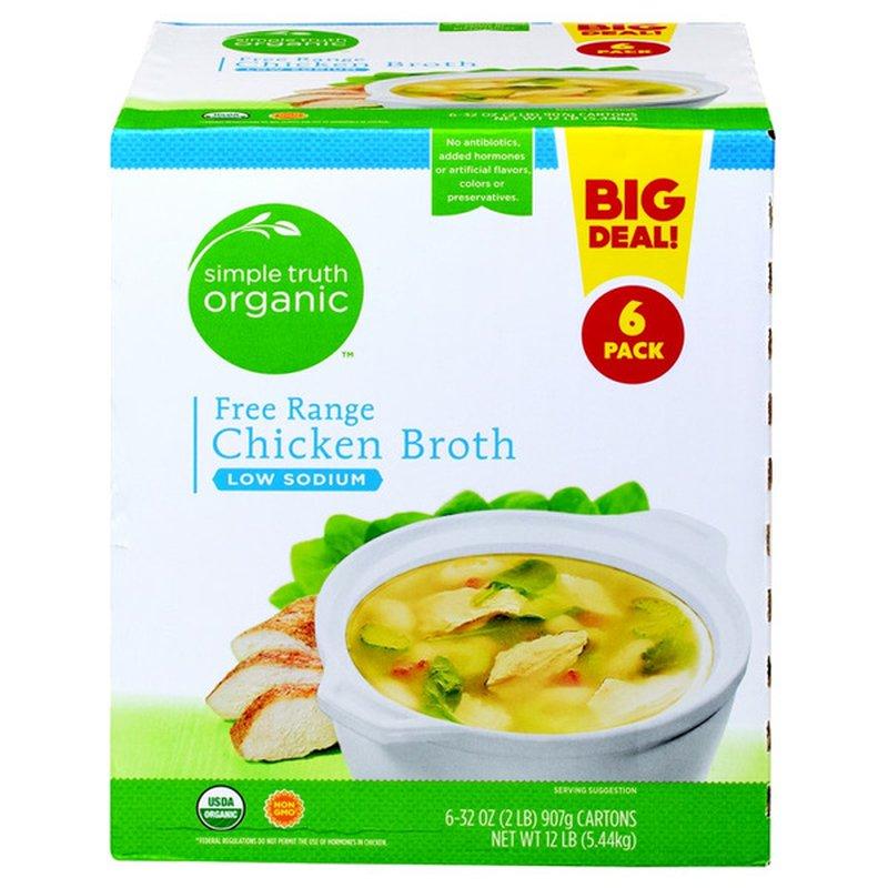 Simple Truth Organic Free Range Chicken Low Sodium Broth