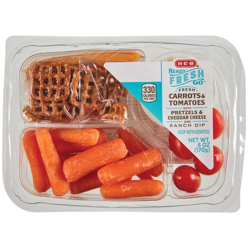 H-E-B Ready, Fresh, Go! Carrots & Tomatoes Snack Tray