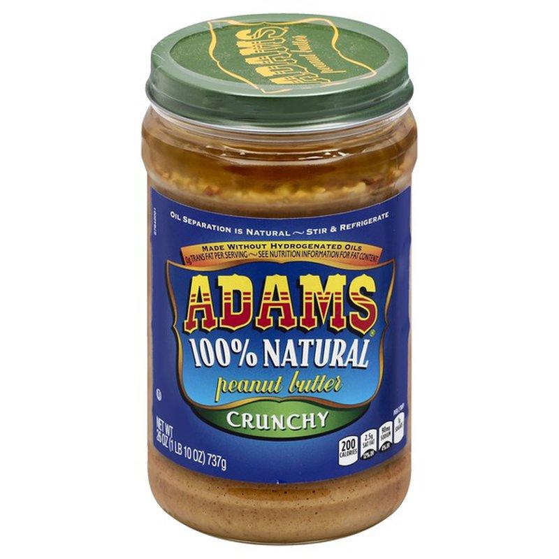 Adams 100% Crunchy Natural Peanut Butter