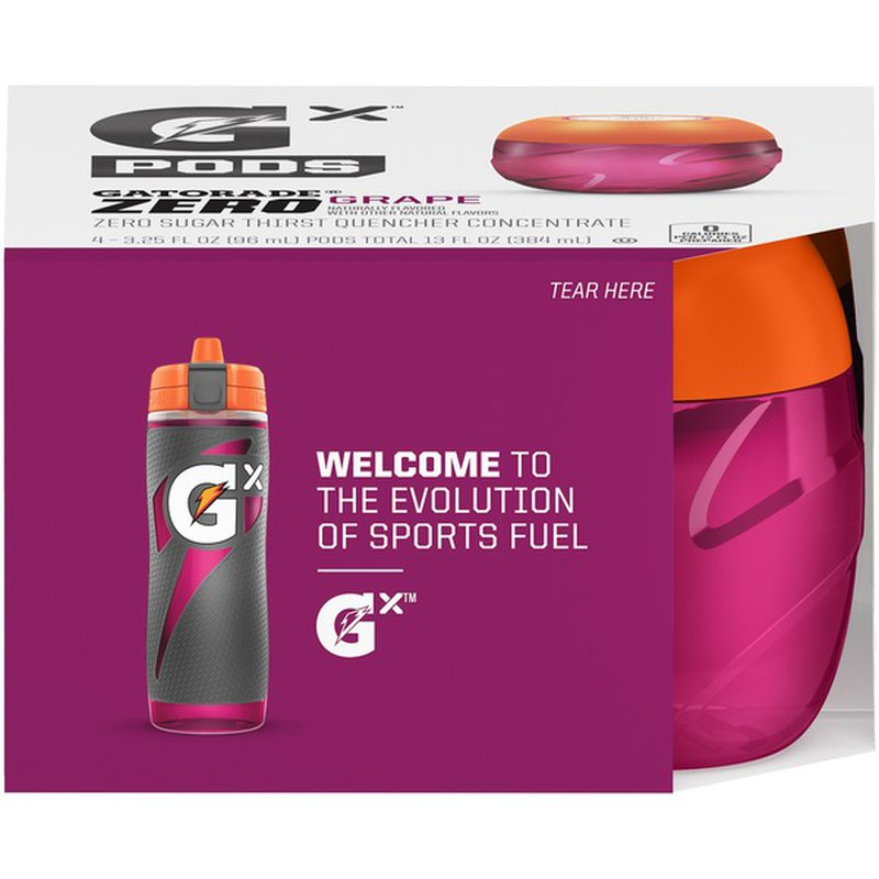 Gatorade GX Pods Fruit Punch Red 1-Pack 4 Pods