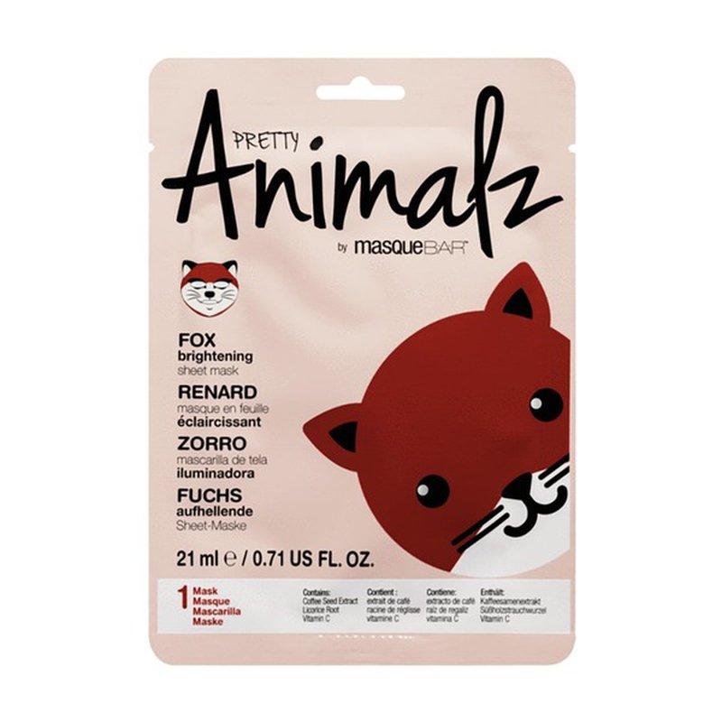 masqueBAR PRETTY Animalz FOX brightening sheet mask
