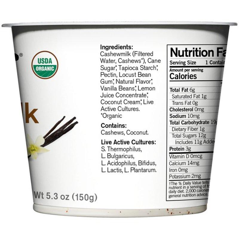 Forager Project Vanilla Bean Dairy-Free Cashewgurt