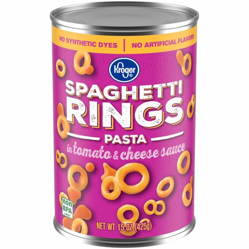 Kroger Spaghetti Rings Pasta With Tomato & Cheese Sauce