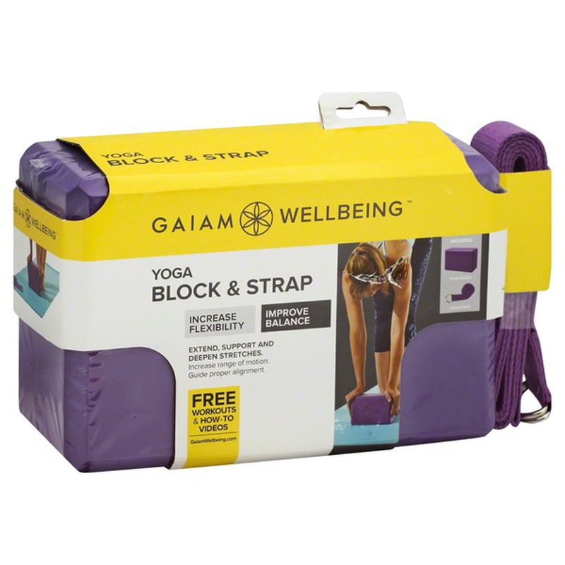 Gaiam Block Strap Yoga 1 Each Instacart