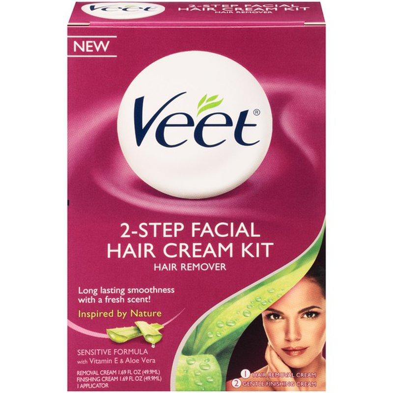 Veet 3 In 1 Face Cream Kit Hair Remover 6 Ct Instacart