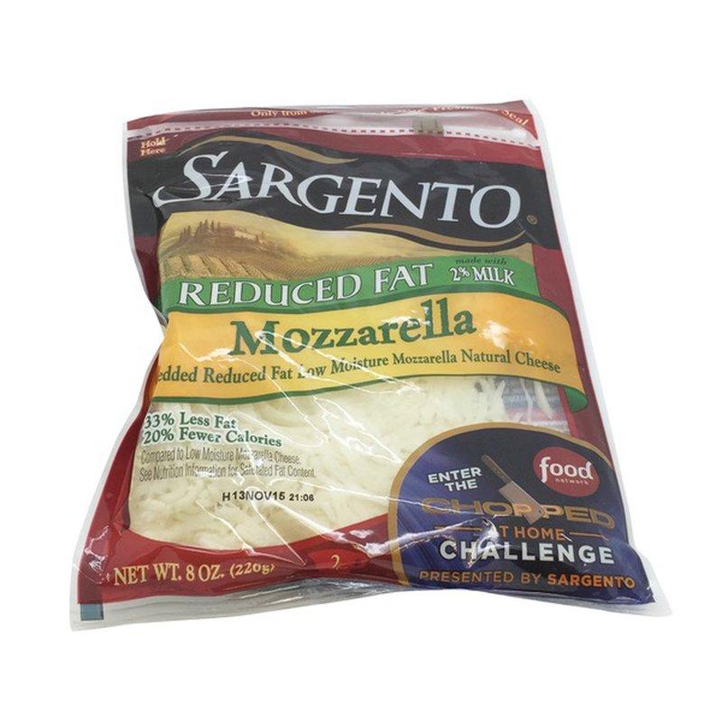 Sargento Reduced Fat Mozzarella Shredded Cheese 8 Oz Instacart