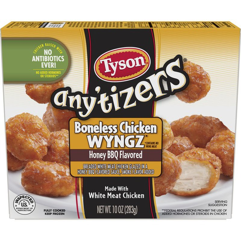 Tyson Anytizers Honey Bbq Boneless Chicken Bites Frozen 0 625 Lb Instacart