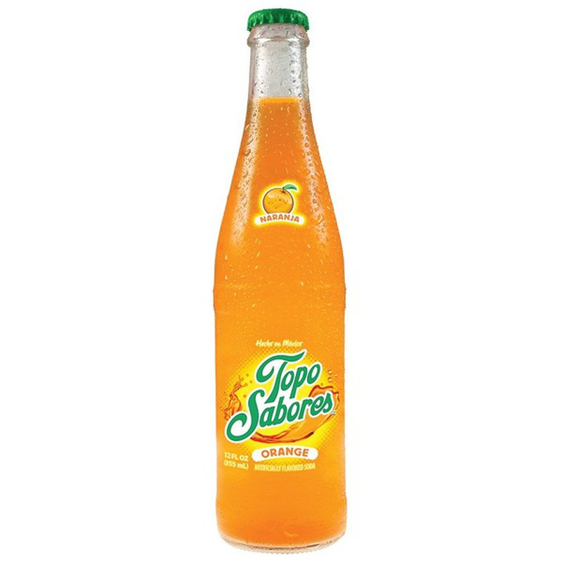 Topo Chico Topo Sabores Orange Glass Bottle