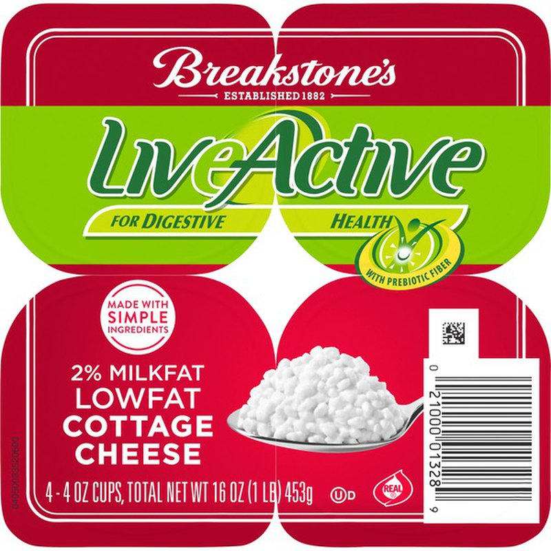 Breakstone'S Live Active Small Curd 2% Milkfat Lowfat Cottage Cheese