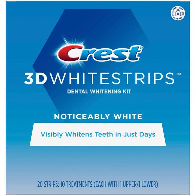 Crest Noticeably White Whitestrips Teeth Whitening Kit 10 Ct Instacart