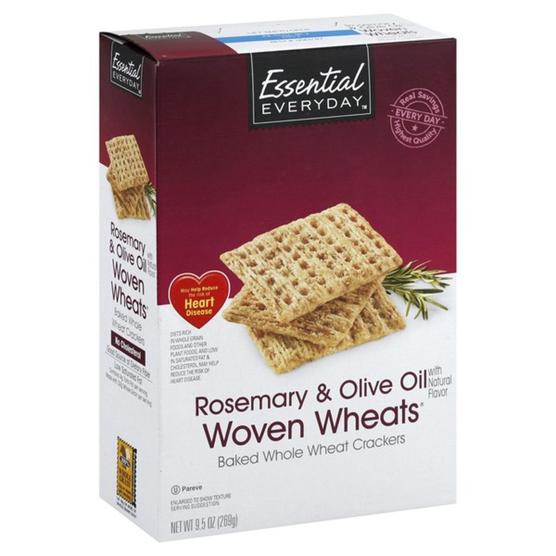 Essential Everyday Woven Wheats Crackers, Rosemary & Olive Oil