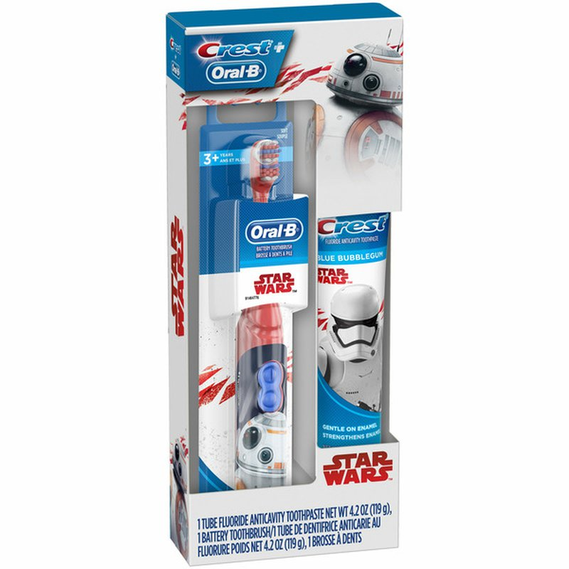 Oral-B Holiday Gift Pack with Battery Toothbrush and Toothpaste featuring STAR WARS Crest & Oral-B Kids Holiday Gift Pack with Battery Toothbrush and Toothpaste