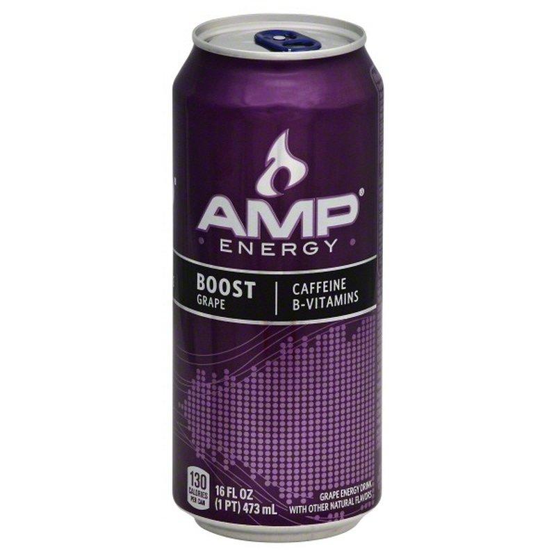 Amp Energy Energy Drink, Grape