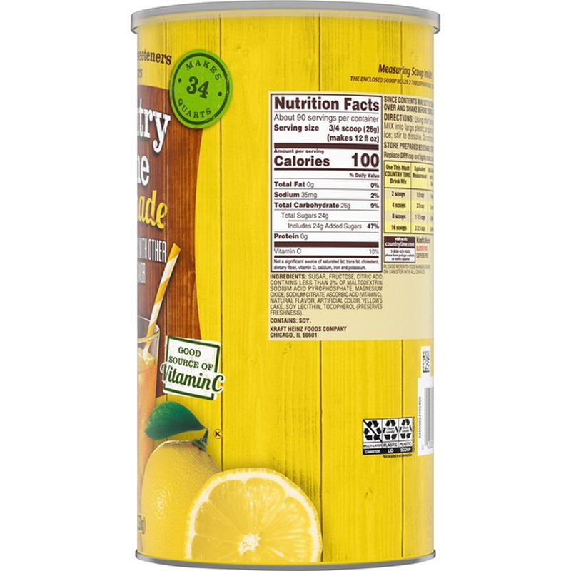 Country Time Lemonade Powdered Drink Mix 82 5 Oz Instacart