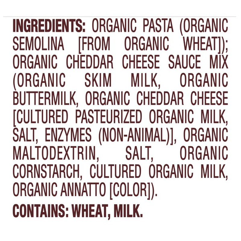 Back to Nature Organic Shells & Cheddar Macaroni & Cheese Dinner